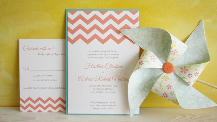 Chevron-pocket-wedding-invitation