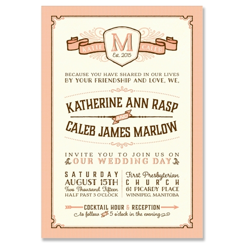 Wedding Invitations Old Fashioned: Vintage Old Fashioned Style Wedding Invitation