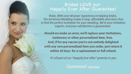 Brides love our Happily Ever After Guarantee
